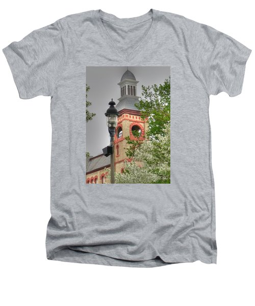 Woodstock Opera House Men's V-Neck T-Shirt by David Bearden