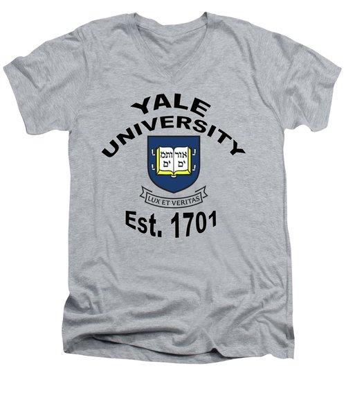Yale University Est 1701 Men's V-Neck T-Shirt
