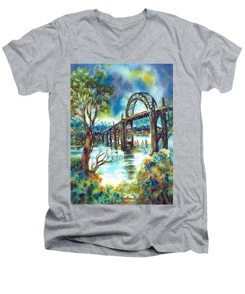 Yaquina Bay Bridge Men's V-Neck T-Shirt