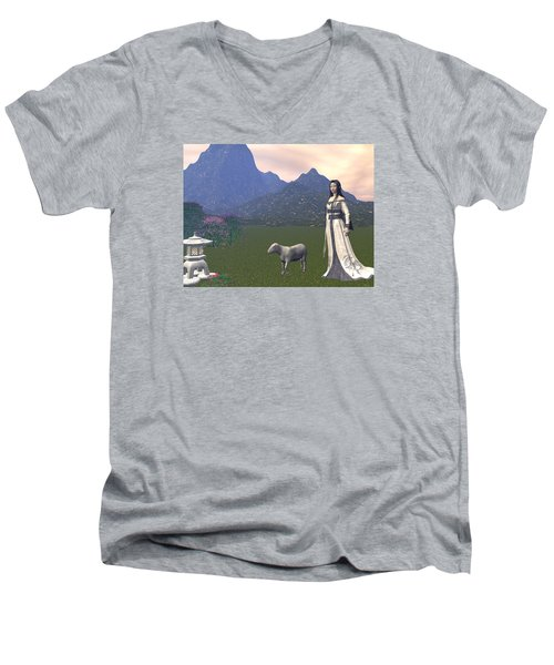 Year Of The Sheep Men's V-Neck T-Shirt