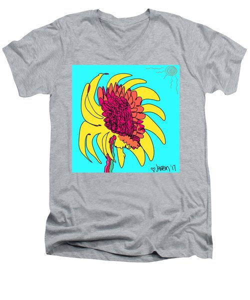 Yes. This Is A Flower, Child Men's V-Neck T-Shirt