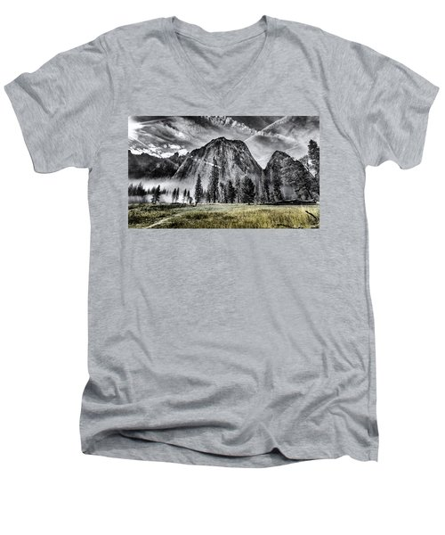 Yosemite Dawn Men's V-Neck T-Shirt