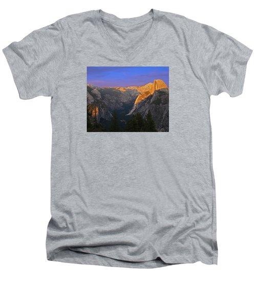 Yosemite Summer Sunset 2012 Men's V-Neck T-Shirt by Walter Fahmy