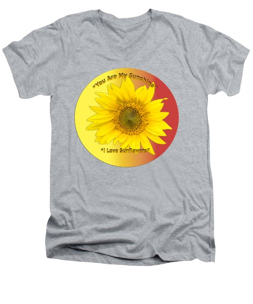 Men's V-Neck T-Shirt featuring the photograph You Are My Sunshine by Thomas Young