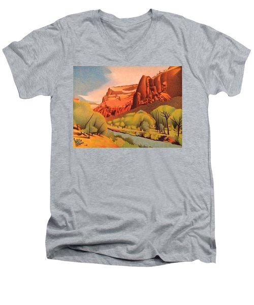 Zion Canyon Men's V-Neck T-Shirt