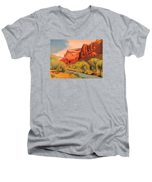 Zion Canyon Men's V-Neck T-Shirt