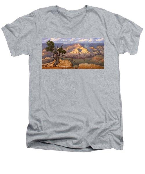 Zoroaster Temple From Yaki Point Men's V-Neck T-Shirt by Paul Krapf