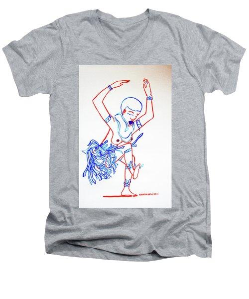 Zulu Traditional Dance South Africa Men's V-Neck T-Shirt