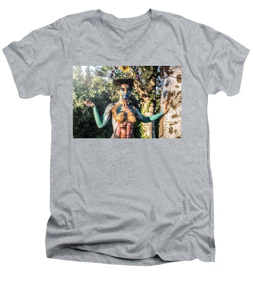 Men's V-Neck T-Shirt featuring the photograph ... by Traven Milovich