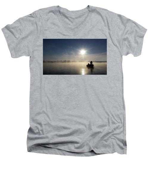 10 Below Zero Fishing Men's V-Neck T-Shirt by Brook Burling