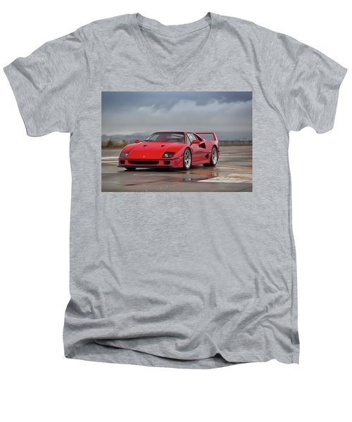 #ferrari #f40 #print Men's V-Neck T-Shirt