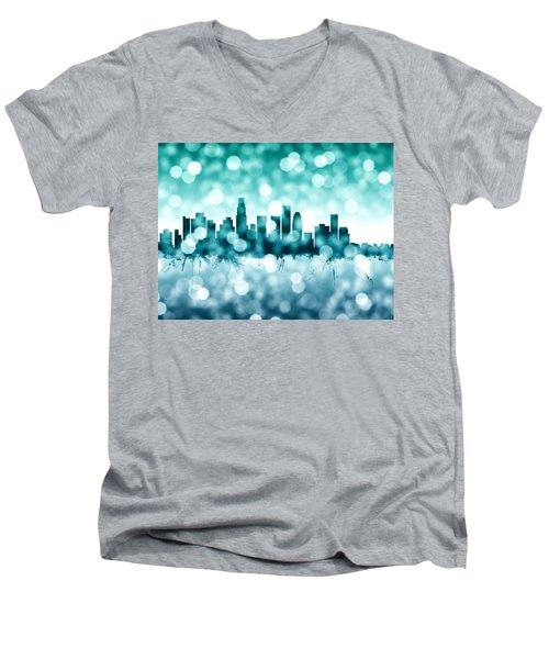 Los Angeles California Skyline Men's V-Neck T-Shirt