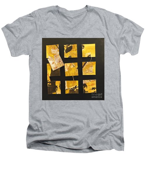 10 Square Men's V-Neck T-Shirt by Gallery Messina