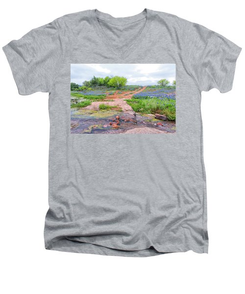 Texas Bluebonnets 9 Men's V-Neck T-Shirt