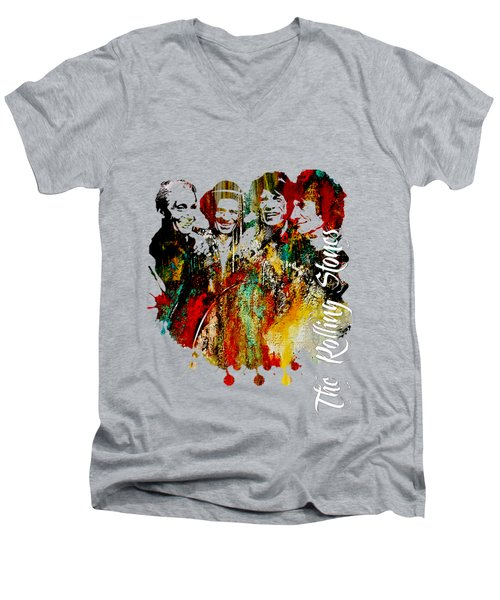 The Rolling Stones Collection Men's V-Neck T-Shirt