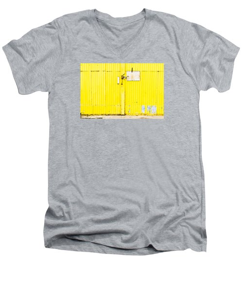 Yellow Metal  Men's V-Neck T-Shirt