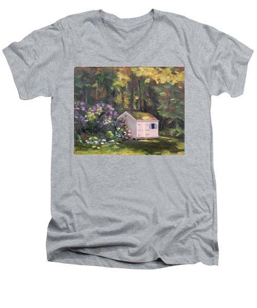 101 Blooms Men's V-Neck T-Shirt by Trina Teele