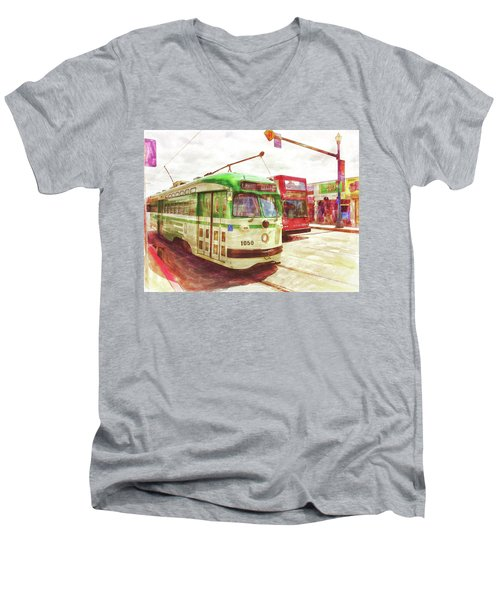 1050 Men's V-Neck T-Shirt by Michael Cleere