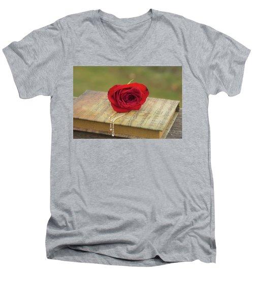 10754 For You My Love Men's V-Neck T-Shirt
