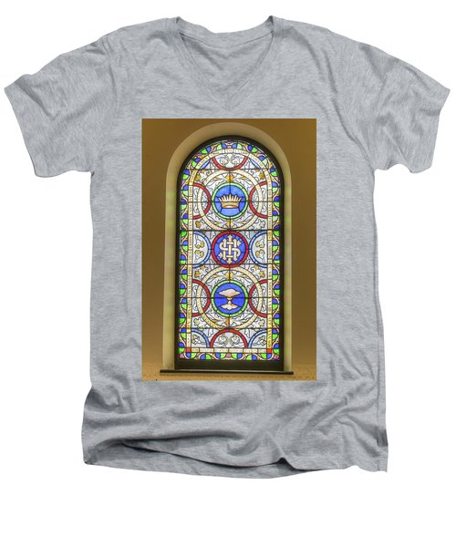 Saint Anne's Windows Men's V-Neck T-Shirt