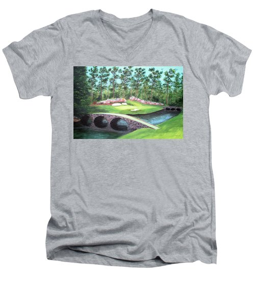 12th Hole At Augusta National Men's V-Neck T-Shirt