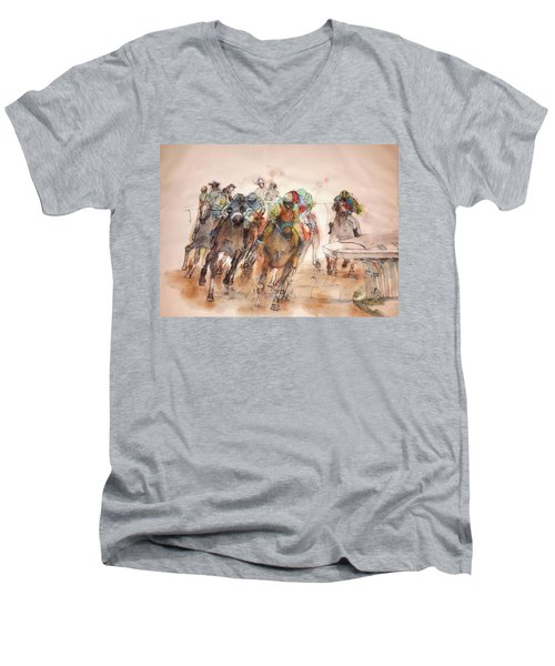 American  Pharaoh  Album  Men's V-Neck T-Shirt by Debbi Saccomanno Chan