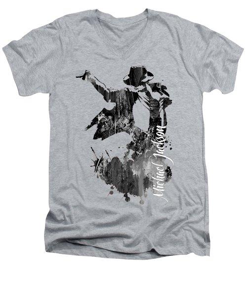 Michael Jackson Collection Men's V-Neck T-Shirt
