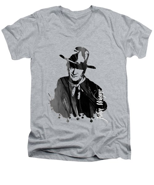 John Wayne Collection Men's V-Neck T-Shirt by Marvin Blaine
