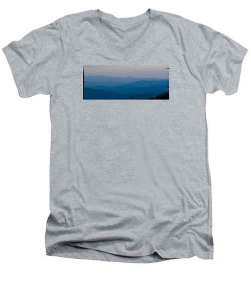 Panoramic Fine Art Prints Men's V-Neck T-Shirt by Kevin Blackburn