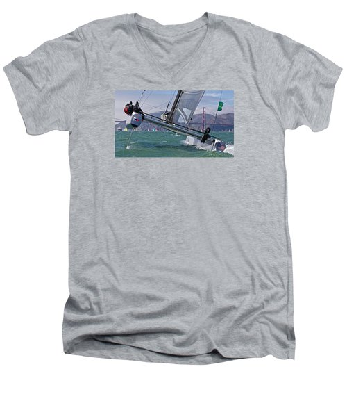 Rolex Regatta San Francisco Men's V-Neck T-Shirt