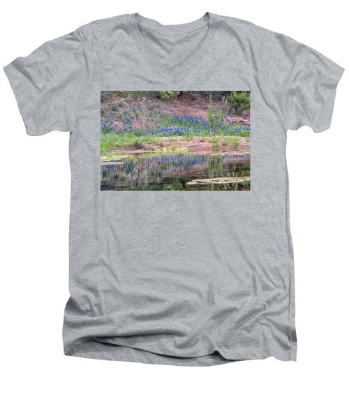 Texas Bluebonnets 8 Men's V-Neck T-Shirt