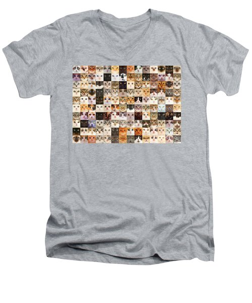 140 Random Cats Men's V-Neck T-Shirt