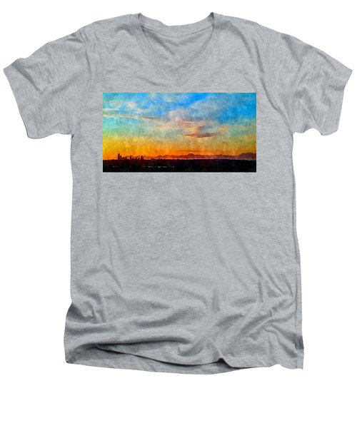 14th Floor Bellevue Place  Men's V-Neck T-Shirt