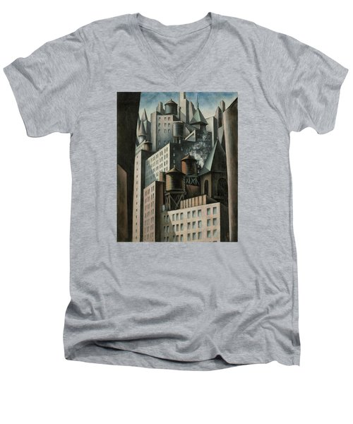 14th Street New York City Men's V-Neck T-Shirt