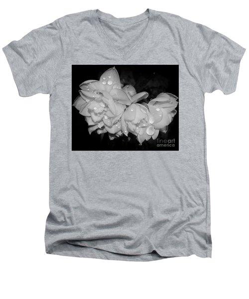 Men's V-Neck T-Shirt featuring the photograph Flowers by Elvira Ladocki