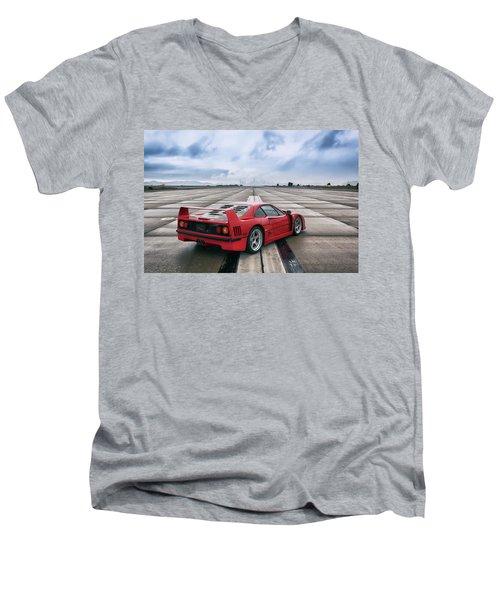 #ferrari #f40 #print Men's V-Neck T-Shirt