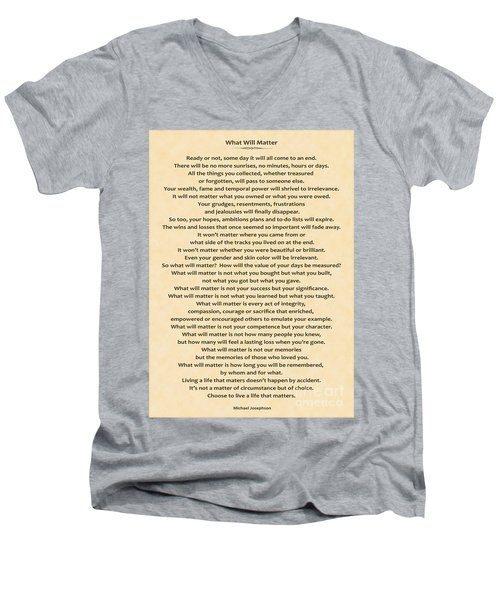 161- What Will Matter Men's V-Neck T-Shirt