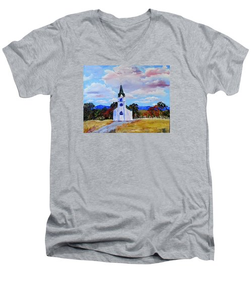#17 St. Johns Historic Church On Hwy 69 Men's V-Neck T-Shirt