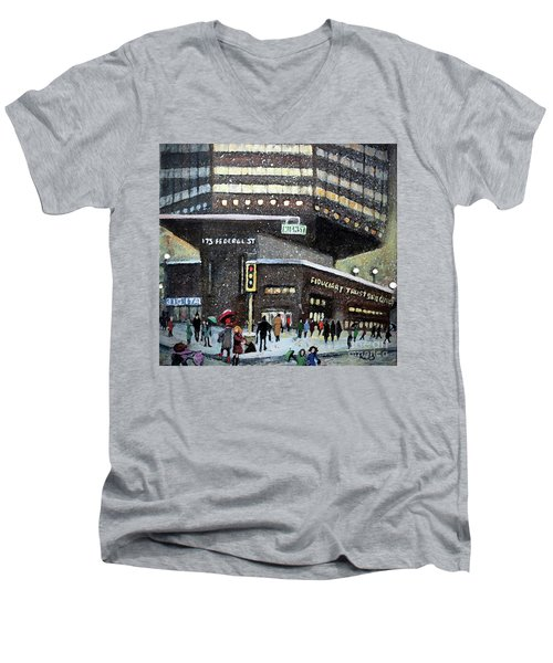 175 Federal Street Men's V-Neck T-Shirt by Rita Brown