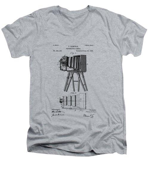 1885 View Camera Patent  Men's V-Neck T-Shirt