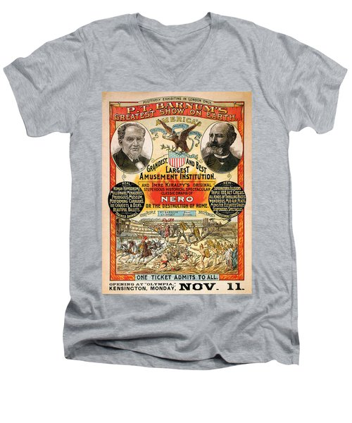 1890 - Circus Poster Men's V-Neck T-Shirt
