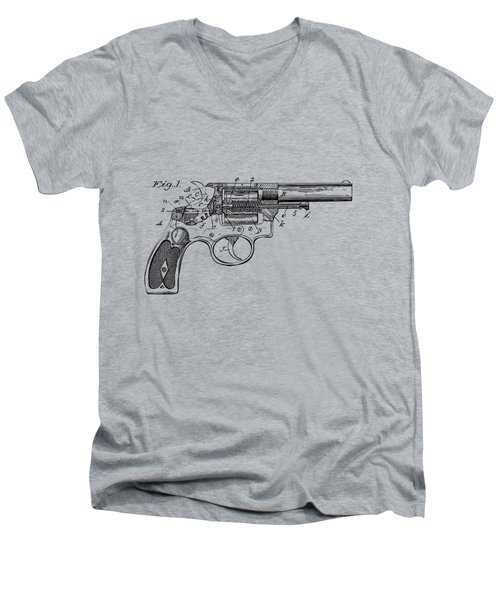 1896 Wesson Safety Device Revolver Patent Minimal - Vintage Men's V-Neck T-Shirt