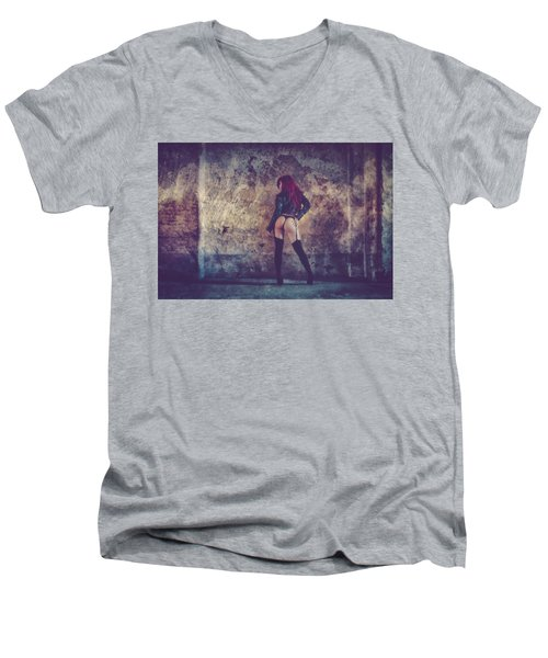 Men's V-Neck T-Shirt featuring the photograph Pretty Things Are Going To Hell by Traven Milovich