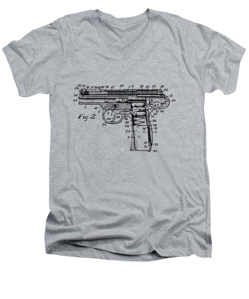 1911 Automatic Firearm Patent Minimal - Vintage Men's V-Neck T-Shirt