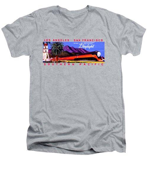 1922 Daylight Railroad Train Men's V-Neck T-Shirt