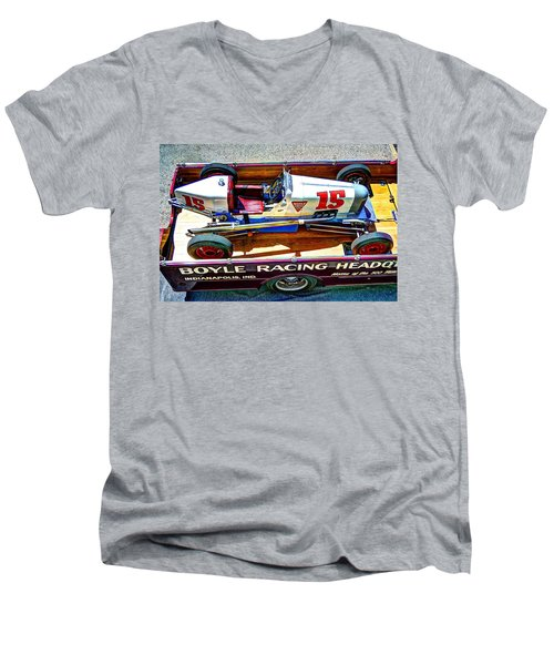 1927 Miller 91 Rear Drive Racing Car Men's V-Neck T-Shirt