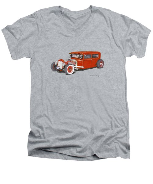 1928 Ford Tudor Jalopy Ratrod Men's V-Neck T-Shirt