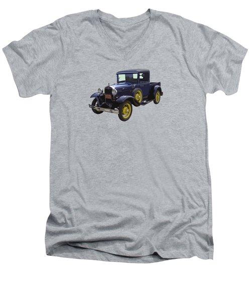 1930 - Model A Ford - Pickup Truck Men's V-Neck T-Shirt