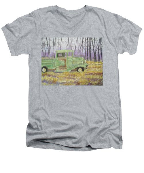 1932  Greenford Pickup Truck Men's V-Neck T-Shirt