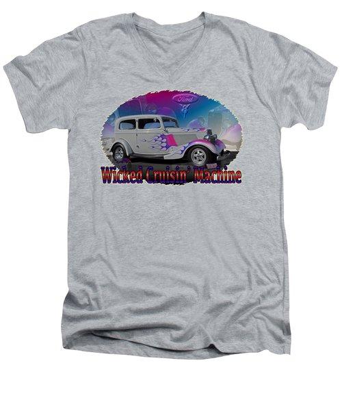 1934 Ford Delux Men's V-Neck T-Shirt